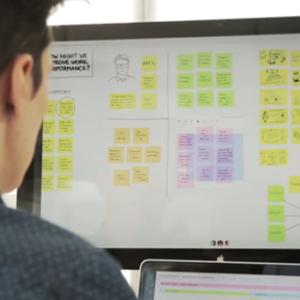 Online Brainstorm met team